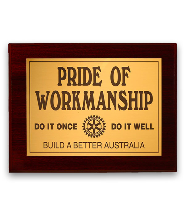 Do It Once-Do It Well<br>Executive Plaque